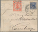 China - Shanghai: 1893 Combination Cover 2 C. Red Local Post Shanghai With Local Post Pmk. In Combin - Chine