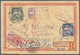 "China - Ganzsachen: 1898, Reply Card CIP 1 C. Canc. Violet Tombstone ""KAOMI / Post Office"" (uprate P - 1949 - ... Volksrepublik"