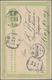 "China - Ganzsachen: 1907, Card 1 C. Light Green Canc. Boxed Dater ""Kwangtung Chongpu -7.25"" Via Same - Cartes Postales"