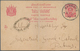 "China - Incoming Mail: 1894, Thailand: Stationery 4 Atts. Canc. ""BANGKOK 2 8 / 2 94"" To Hippisley Es - Chine"