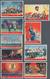 China - Volksrepublik: 1968, Revolutionary Literature And Art (W5), Complete Set Of 9, Used, Michel - 1949 - ... République Populaire