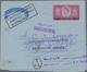 Katar / Qatar: 1966: Air Letter Postal Stationery 30n.p. On 6d. Sent From P.D.O. Azaiba, Fahud Base - Qatar