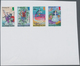 Ascension: 2011, Fairy Tales, IMPERFORATE Proof Se-tenant Strip Of Four, Mint Never Hinged. - Ascension (Ile De L')