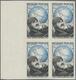 Frankreich: 1951, Maurice Nogues 12fr. (pilot) IMPERFORATDE Block Of Four From Left Margin, Mint Nev - Unused Stamps