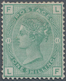 Großbritannien: 1873, QV 1s. Green With Wmk. Spray Of Rose From Plate 11 (lettered 'FL'), Mint Heavy - 1840-1901 (Viktoria)