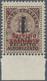 """Italien - Gebührenmarken: Briefzustellung: 1944, """"1 L"""" And """"Servizio Ausiliario"""" Red Overprints On 1 - 1900-44 Victor Emmanuel III"""