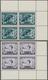 Österreich: 1933, FIS-Wettkämpfe, Kompletter Postfrischer Viererblock-Satz Aus Der Rechten Oberen Bo - 1850-1918 Keizerrijk