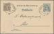 """Württemberg - Ganzsachen: 1909. Dienst-Postkarte 3 Pf Braun Neben 2 Pf Grau """"Strassenbau-Inspektion - Wurtemberg"""
