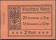Deutsches Reich - Markenheftchen: 1913/1916: Markenheftchen 5, Zweite Und Dritte Deckelseite Unbedru - Duitsland