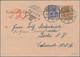 Deutsches Reich - Ganzsachen: 1919. Rohrpostkarte 20 Pf Violettblau Neben 30 Pf Gelbbraun Germania, - Allemagne