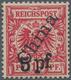 """Deutsche Post In China: 1900, """"5 Pf"""" Auf 10 Pf Lebhaftlilarot, Steiler Aufdruck, Postfrisch. Lt. Att - Offices: China"""