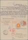 Alliierte Besetzung - Ganzsachen: 1948, 30 Pfg. Doppelkarte Der Arbeiterserie Ab LÜNEBURG 13.3.48 Na - Allemagne