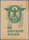Ansichtskarten: Propaganda: Die Deutsche Polizei / The German Police SS Propaganda Card Set (four Ca - Partiti Politici & Elezioni