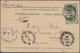 Russland: 1899-1925, Six Viewcards With Different Cancels Of Shipmail (Perm-Nishniy, Nishniy-Rybinsk - Cartas