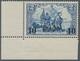Deutsche Post In Der Türkei: 1905, 10 PIA Auf 2 M Blau, Postfrisches Unteres Linkes Eckrandstück. - Offices: Turkish Empire