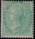 India 1856 QV 4a Green No Watermark Mint SG 47 £5000 - A Rare Stamp. - Inde (...-1947)
