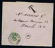 Belgium Letter With Halved Postage Due Stamp/ Gehalveerde Strafportzegel. TX1  Demi Timbre 1883 - Strafportzegels