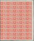 Albanien: 1940, Airmails Express Stamps, 25q. Violet And 50q. Orange, 192 Sets Within Large Multiple - Albanie