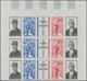 Frankreich: 1971, Death Anniversary Of Gen. Charles De Gaulle, Imperforate Top Marginal Block Of Thr - France