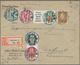 Deutsches Reich - Zusammendrucke: 1920/1943 (ca.), Partie Von Ca. 40 Belegen Mit Zusammendruck-Frank - Se-Tenant