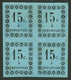 """GUADELOUPE : TAXE Superbe Bloc De 4 Du 15c(n°4) Neuf * Dont Un Timbre Avec Variété """"SANS POINT Aprés Le C"""" (n°4b). Signé - Francia (antiguas Colonias Y Protectorados)"""