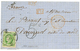 """1864 SPAIN 12c + """"5c"""" Tax Marking On Entire Letter From GIBRALTAR To FRANCE. Scarce. Vf. - Spanje"""