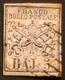 Stato Pontificio - BAJ.5 Di 1852: FALSO DI EPOCA Sassone No. F3 Michel-No. 6 A, Rosa Signo & Certificato RAYBAUDI (1973) - Stato Pontificio