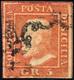 1859 - 5 Grana Vermiglio, II Tavola (11), Pos. 81, Usato, Perfetto. Emilio Diena, Cert. Diena.... - Sicily