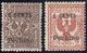 PECHINO 1918/19 - 1 CENTS Anziché 1/2 CENT Su 1 Cent. Floreale E 1 CENTS Anziché 1 CENT Su 2 Cent. F... - 11. Auslandsämter