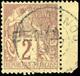 O 2c. Lilas-brun Sur Paille. Obl. BdeF. B. - Benin (1892-1894)
