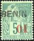 * 01 S/5c. Vert + 40 S/15c. Bleu Obl. TB. - Benin (1892-1894)