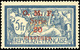 * 20pi. S/5F. Bleu Et Chamois + 20pi. S/5F. Surcharge Noire Et Rouge. TB. - Siria (1919-1945)