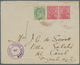"""Indien - Used Abroad - Iran: JASK And HENJAM ISLAND 1916: KEVII ½d And KGV 1d (pair) Tied """"JASK PERS - Non Classés"""