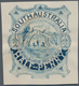 Südaustralien: 1890's, Stamp Design Competition Handpainted ESSAY (42 X 49 Mm) In Blue Ink On Thick - 1855-1912 South Australia