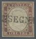 Italien - Altitalienische Staaten: Sardinien: 1861, 3 Lire Rame Scuro, 3 Lire Dar Copper Brown, Smal - Sardinië