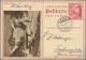 Liechtenstein - Ganzsachen: 1937, 20 Rp. Schloßhof, Bild Valünatal Im Schnee, Bedarfskarte Von Vaduz - Entiers Postaux