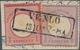 """Deutsches Reich - Brustschild: 1872, """"VENLO 2 8 5-6"""" SCHWARZER Ra2 Auf Briefstück ¼ Gr + 1 Gr, STEMP - Allemagne"""