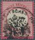 Deutsches Reich - Brustschild: 1872, Großer Schild 1 Gr Karmin Mit Seltenem REICHSADLER-HILFSPOSTAMT - Alemania