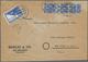 Bizone - Flugpost-Zulassungsmarke: 1948, JEIA-Zulassungsmarke Auf Firmen-Luftpostbrief Mit Portogere - Amerikaanse-en Britse Zone