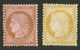 CERES 10c (n°58) + 15c (n°55) Neuf *. Cote 1250€. Les 2 Timbres Signés SCHELLER. TTB. - 1871-1875 Cérès