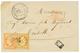 RHODES : 1864 10c + 40c Obl. GC 5094 + RHODES TURQUIE Sur Enveloppe Pour La FRANCE. Superbe. - Francia (antiguas Colonias Y Protectorados)