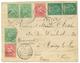 """""""TIMBO Manuscrit"""" : 1908 5c Groupe (x2) + 5c (x3)+ 10c (x2) Obl. Cachet Provisoire GUINEE FRANCAISE échoppé + """"TIMBO"""" Ma - Guinée Française (1892-1944)"""
