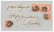 GIBRALTAR : 1858 SPAIN 4c(x5) + Large Blue Cachet GIBRALTAR On Cover To CADIZ. RARE. Vvf. - Gibilterra