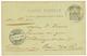 """IGUELA Via CABINDA"" : 1898 P./Stat French CONGO 10c Datelined ""IGUELA"" Canc. CORRo DE CABINDA + ""Via LISBOA"" To GERMANY - Colonies & Territories – Unclassified"