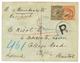 1896 INDIA Overprint ZANZIBAR 1a 6p + 3a Canc. ZANZIBAR On REGISTERED Envelope To ENGLAND. Ex. MILO ROWELL. Vvf. - Zanzibar (1894-1904)
