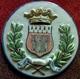 XIX°  HB Hubaudière-Bousquet BLASON/ ARMES  DE LA VILLE DE DINAN . BARBOTINE A SUSPENDRE .  EARTHENWARE 19th CENTURY - Quimper/Henriot (FRA)