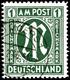 """1 RM, AM-Post Gez. L 11:11½, Gest. MOERS 2.46, Fotoattest Schlegel BPP: """"echt Und Einwandfrei"""", Mi. 550.-, Katalog: 35Bz - Zone Anglo-Américaine"""
