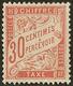 * No 34, Rouge-orange, Très Frais. - TB - Postage Due
