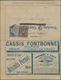 "Thematik: Pilze / Mushrooms: 1886 Frankreich 15 C. Anzeigen-GA-Kartenbrief Mit Rs.Abb. ""Champignon"" - Paddestoelen"