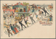 "Thematik: Sport-Pferdesport / Sport Equestrian Sports: Ca.1899 Württemberg 5Pf Privatpostkarte ""Grus - Hippisme"
